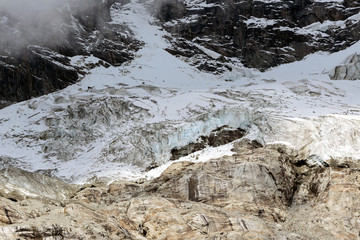 Ghiacciaio della Brenva - Catena del Monte Bianco