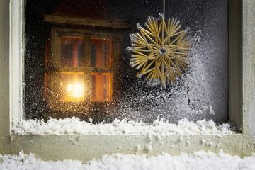 christmas decoration on a window 10