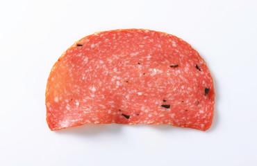 Thin salami slice
