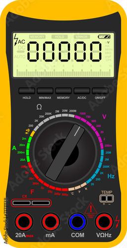 Vector illustration of a digital multimeter - 71711138