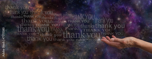 Thanking the Universe Website Banner - 71711380
