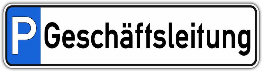 Geschäftsleitung Parken Schild  #141017-svg05