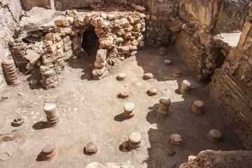 Underfloor at public baths at Aptera, Crete