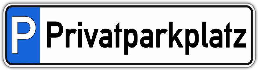 Privat Parkplatz Schild #141017-svg08