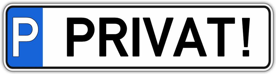 Privat Parkplatz Schild  #141017-svg09