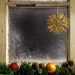 christmas decoration on a window 18