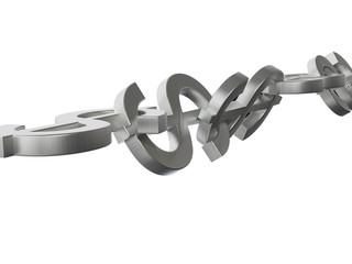 Dollar Chain 3D Concept Metal