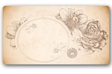 Vintage floral frame.