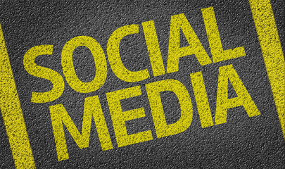 Social Media written on the road