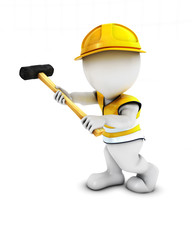 3D Morph Man Builder with sledgehammer
