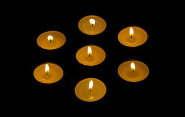 Seven candles