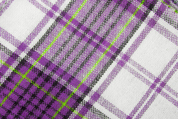 close up of the checked fabric tecture