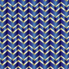 Blue ribbon chevron background