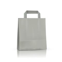 blank paper bag in grey