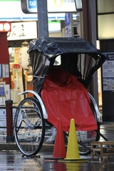 Rickshaw 2 wheel bike taxi - tokyo