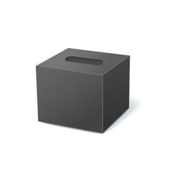 black tissue box