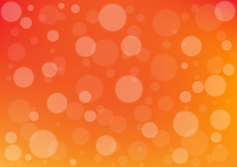 Abstract circle on orange color background