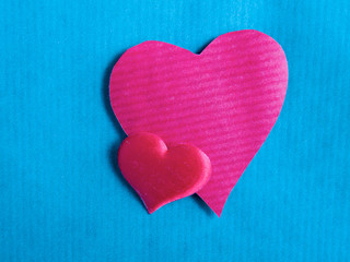 Heart , isolated on blue  background.