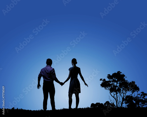 canvas print picture Romantic couple