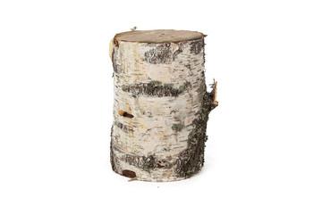 Isolated image of birch stump
