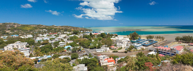 vue générale de Port-Mathurin, capitale de Rodrigues