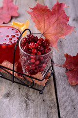 lingonberry juice and berries