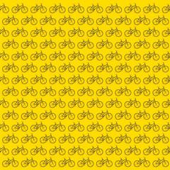 creative bicycle design patttern background vector