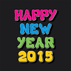 creative colorful new year 2015 greeting background vector