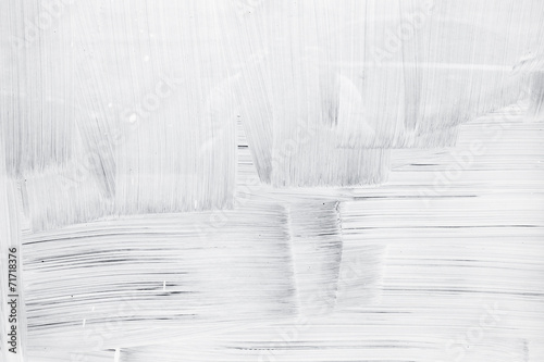 White paint layer on glass wall, background texture - 71718376