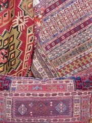 Traditionelle Orientteppiche im Basar an der Blauen Moschee