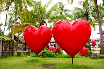 Garden of love, big heart in orchard,Thailand.