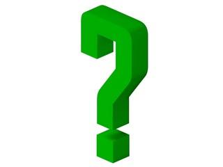 Interrogation point - green