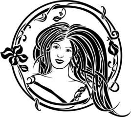 Girl portrait in the Art Nouveau style