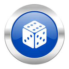game blue circle chrome web icon isolated