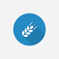 Agriculture Flat Blue Simple Icon with long shadow.