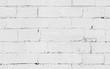 White brick wall background texture, seamless photo