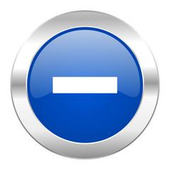 minus blue circle chrome web icon isolated