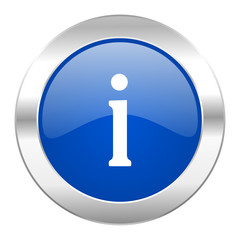 information blue circle chrome web icon isolated