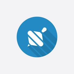whirligig Flat Blue Simple Icon with long shadow.