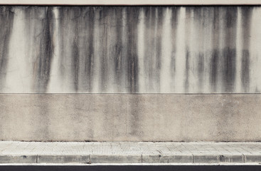Old concrete wall and roadside. Abstract industrial interior bac