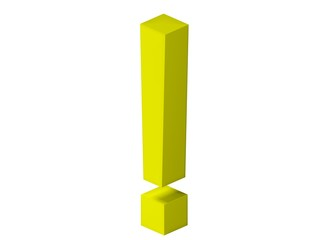 Exclamation point - yellow