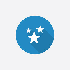 stars Flat Blue Simple Icon with long shadow.