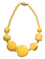 yellow necklace isolated on white
