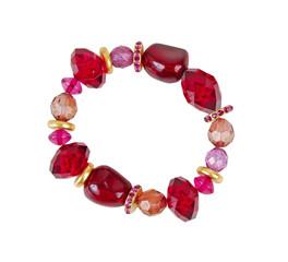 red bracelet isolated on white