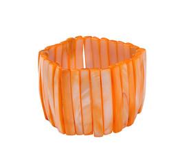 orange bracelet isolated on white