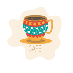 Cafe coffee cup vector illustration