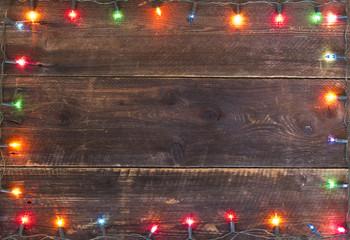 christmas lights frame background