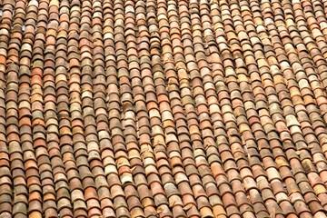 Old Tile Roof Close-up