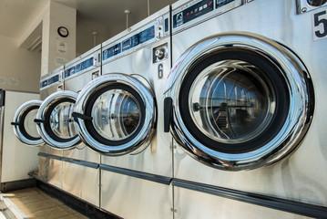 line of laundry machine