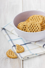 Cookies in ceramic cup